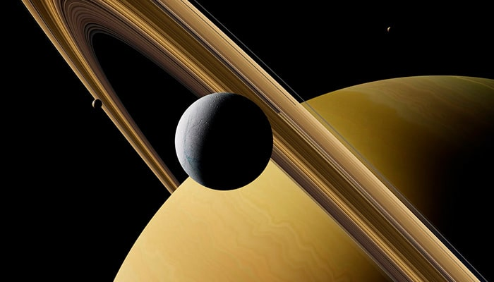 The Saturn's Moons: Titan and Rhea